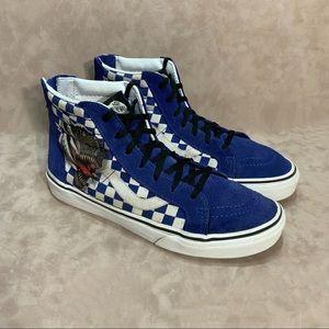 Vans High Top Sneakers Jurassic T-Rex Blue Suede